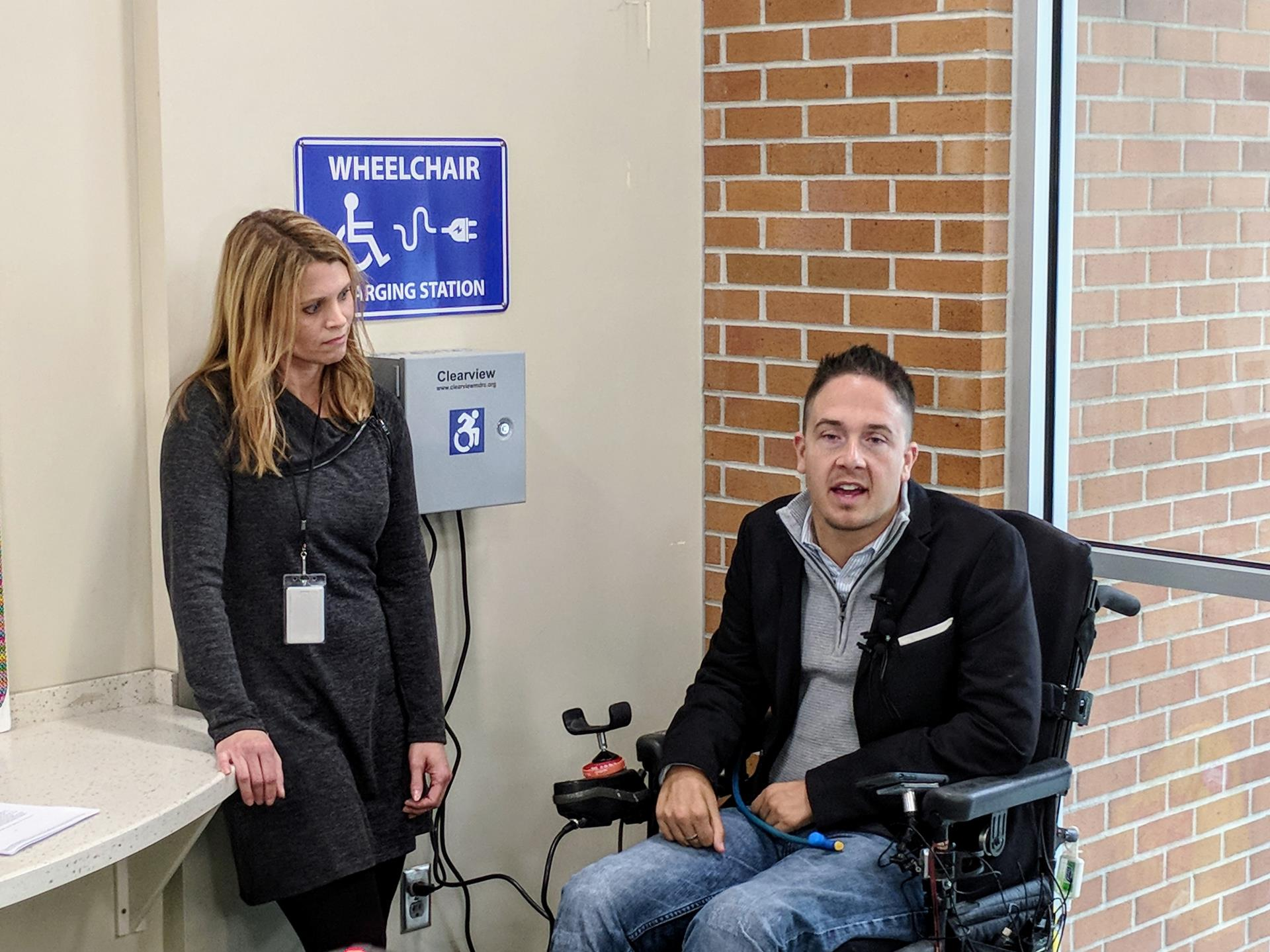Wheelchair Charging Station with Alex Watters