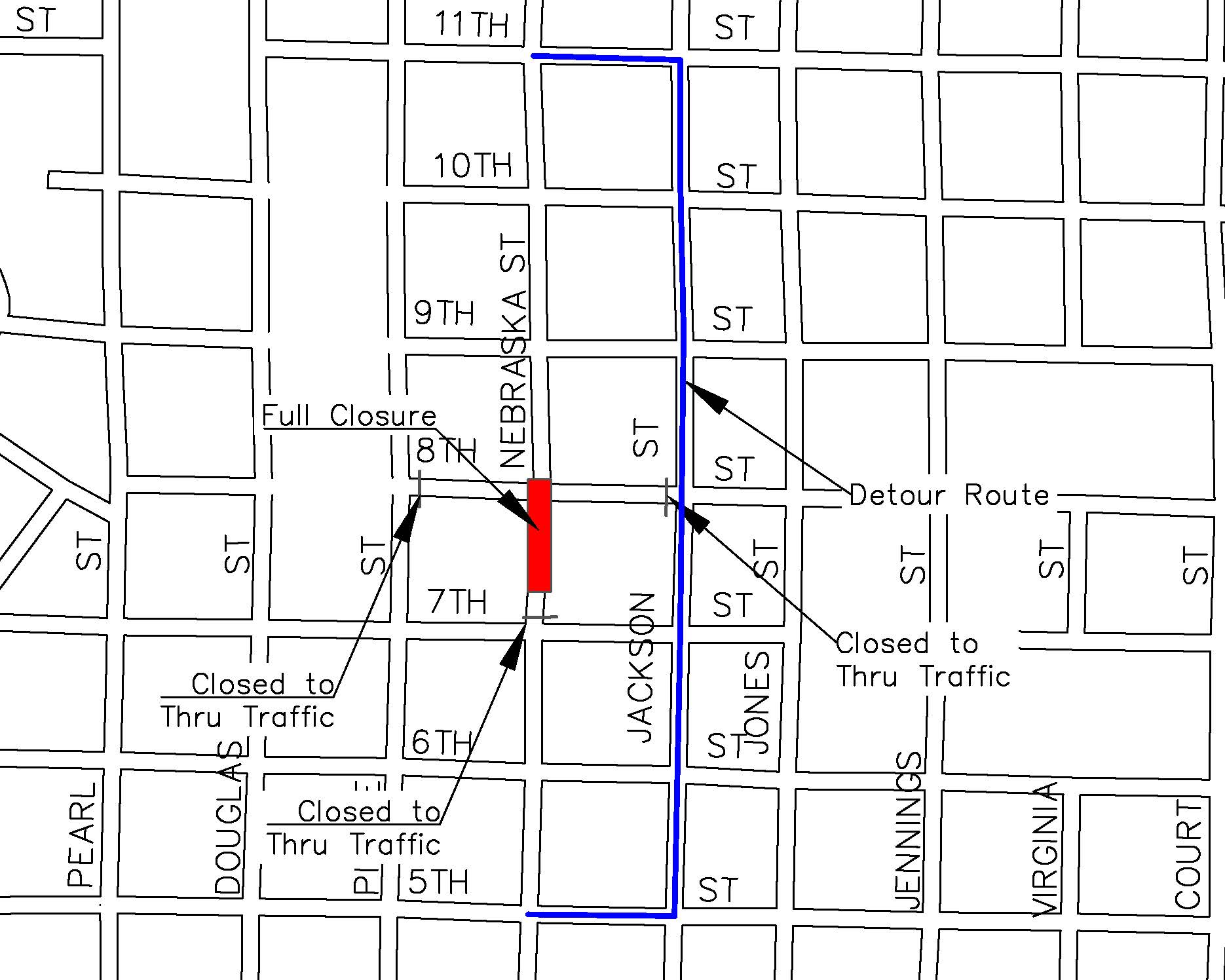 8th Street and Nebraska Intersection Closure | Press Releases | City ...