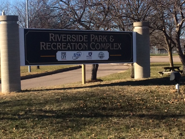 Riverside Sign entrance sign 2016