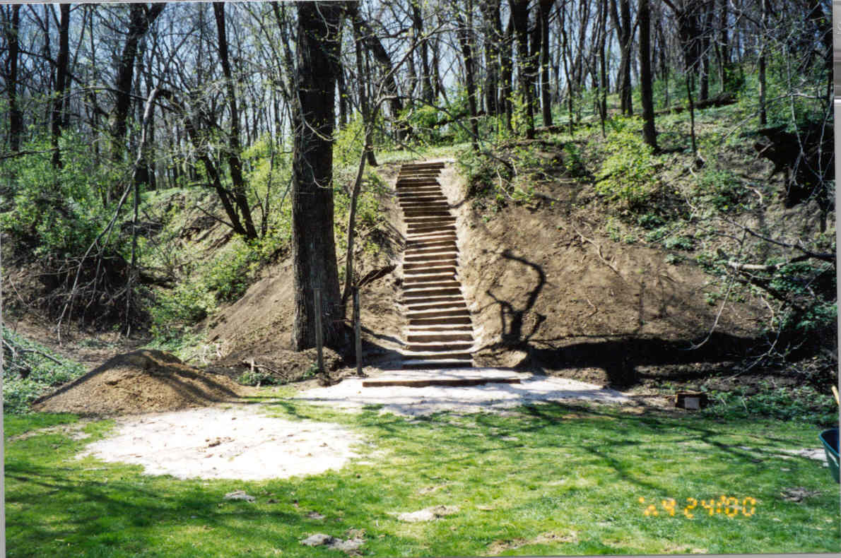 South Ravine steps to First brides grave