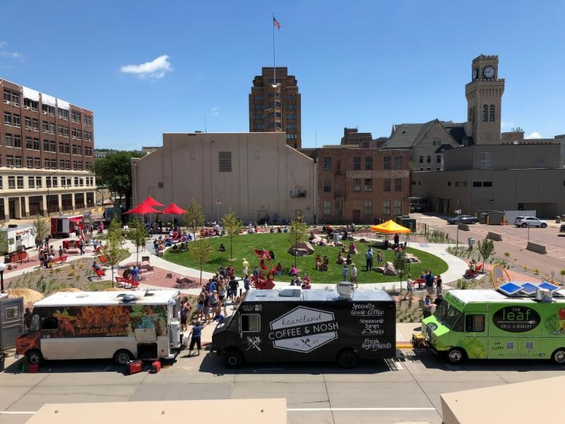 Food Truck Fridays Aerial Photo