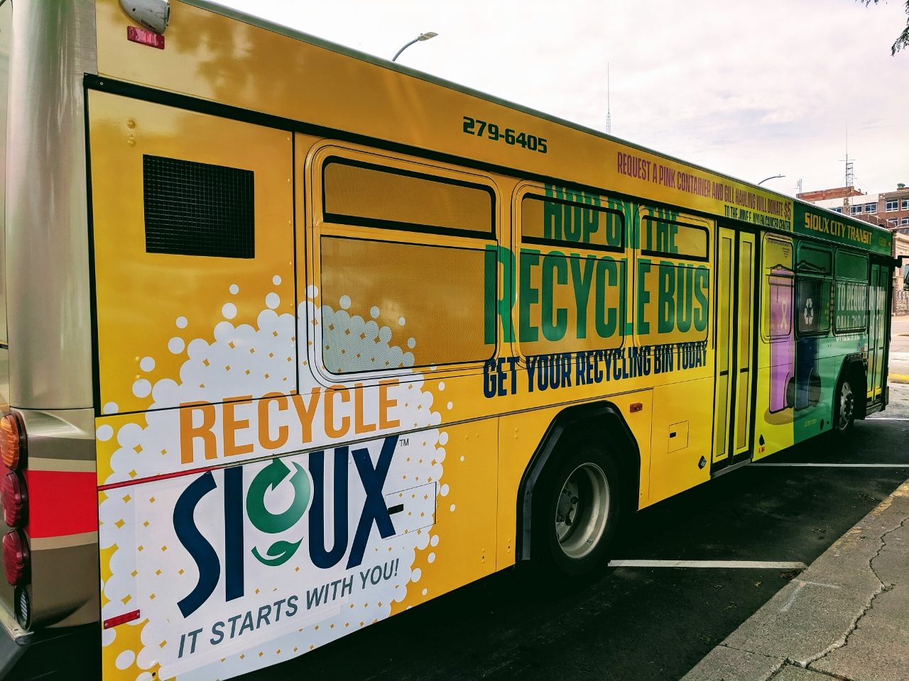 Sioux City Recycle Bus Wrap