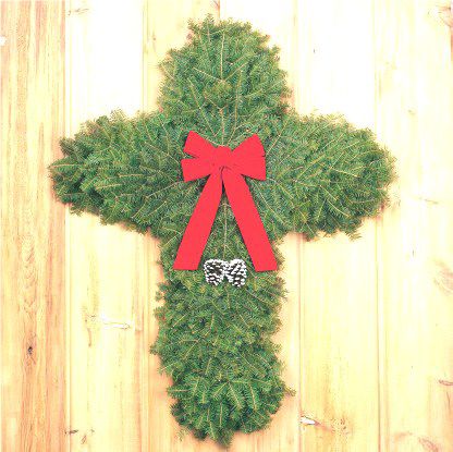Cross holiday decoration