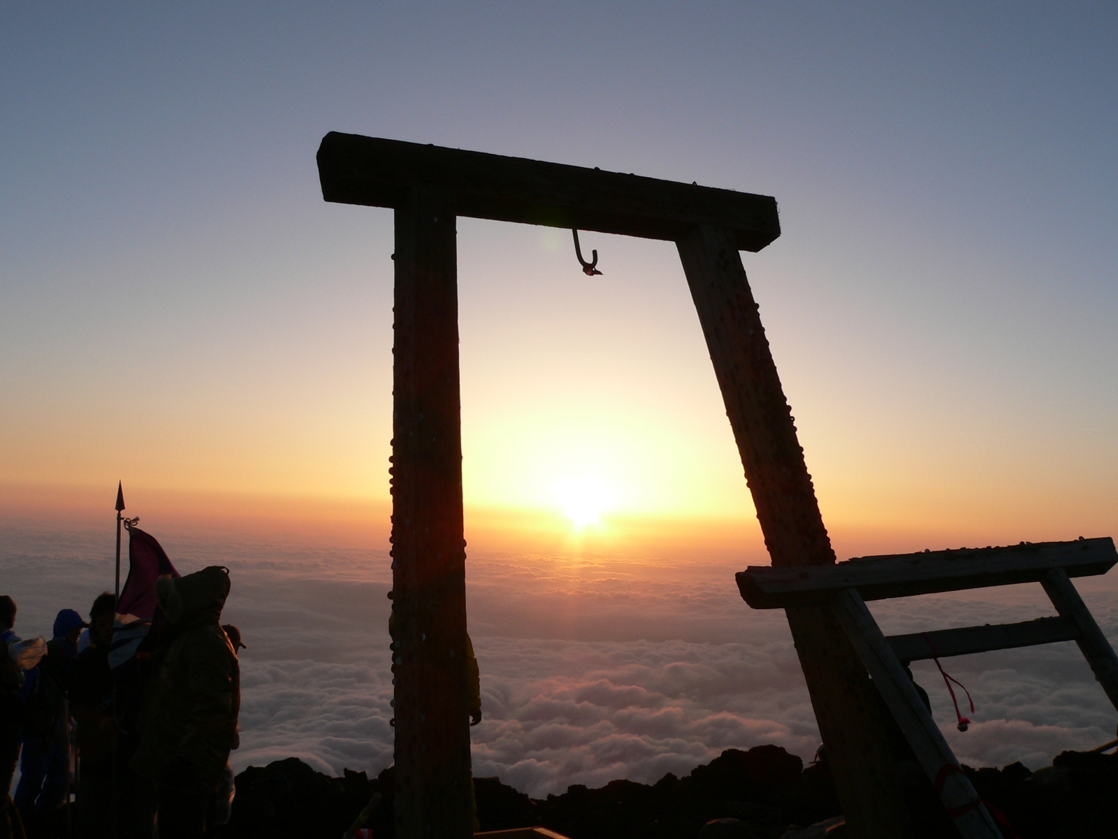 Top of Mt Fuji sunrise 2006
